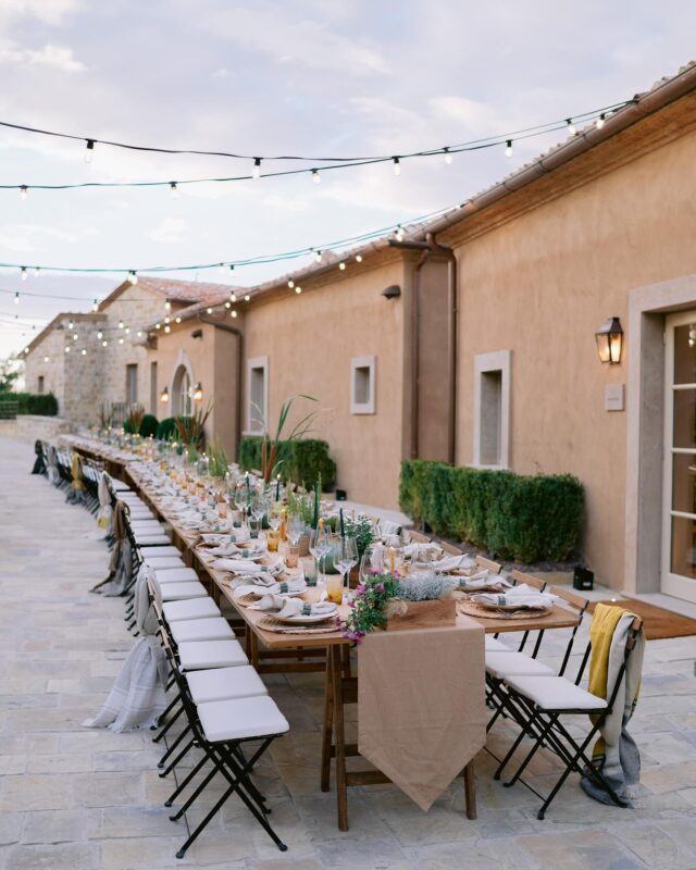 Dinner in the Borgo this weekend for Emily and Brice's welcome dinner at @rosewoodcastigliondelbosco such a pleasure for us to design and work at a new beautiful location.  Photography @josevilla  Design and decor @lakecomoweddings  Entertainment @elanartists  Location @rosewoodcastigliondelbosco  Video @moonandbackco  Printed goods @wileyvalentine  Hair and makeup @kellydawnbridal @lifeofkellydawn @lukepluckrose  Dress @chanelofficial  Rentals @tablesetrentals  Lighting @michelangelo_greenhouse  #tuscany #weddingintuscany #rosewood #castigliondelbosco #borgo #tuscanwedding #italianwedding #weddinginitaly #destinationwedding #destinationweddingplanner #weddingdesign #eventdesign #eventdesigner #weddingdecor #weddinginspo #weddinginspiration